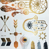 Metallic Tattoos- Boho Mix
