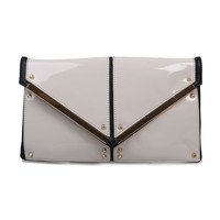Bone & Black Two Tone Sheridan Clutch