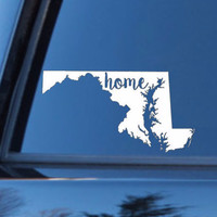 Maryland Home Decal | Maryland State Decal | Homestate Decals | Love Sticker | Love Decal  | Car Decal | Car Stickers | Bumper | 112