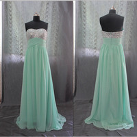 Sweetheart sleeveless with sequins long Evening/Party/Homecoming/cocktail dress/Bridesmaid/Formal Dress
