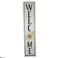 Home & Garden Welcome Sign W/ Sunflower Bees Wall Decor - 32835658