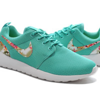 """NIKE"" Trending Fashion Casual Sports Shoes Green  Floral"