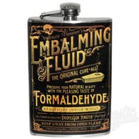 Theatre Bizarre EMBALMING FLUID Flask