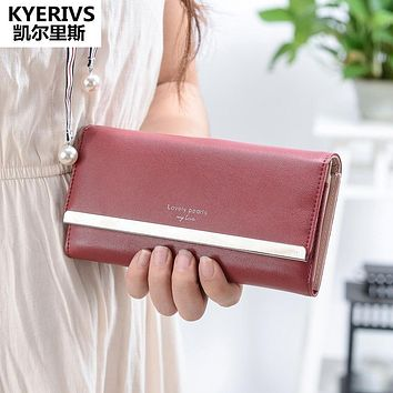 Women Wallets Pu Leather Wallet Female Purse Cards Clutch Bag Quality Coin Purse for Phone Fashion Womens Wallets and Purses