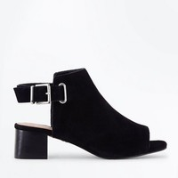 Black Comfort Flex Suede Sling Back Heels | New Look
