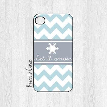 iPhone 5 case, iPhone 5S case, Christmas Phone Cases, Holiday, Let it snow, Merry Christmas - K203
