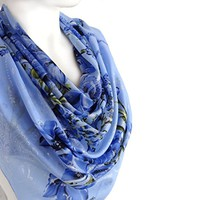 BUY ANY 3 GET 1 OF THEM FREE, blue sparkle scarf, large cotton scarf, sparkly square scarf, blue silvery scarf, glitter soft scarf, Christmas scarf, light blue scarf,
