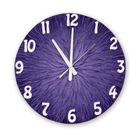 Large WALL CLOCK, Deeep Purple Wall Clock, Unique clock, Modern wall clock