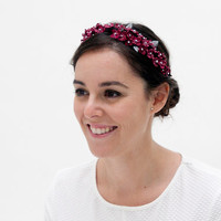 Dolina - Floral crown made with clay