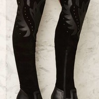 Fan the Flames Over-the-Knee Leather Boot