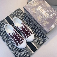 Dior Low-top Canvas Sneakers-8