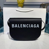 Balenciaga Fashion Women Leather monnogam Handbag Crossbody bags Shouldbag Bumbag 24*5*18 cm