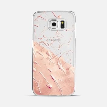Pastel Rose Gold Rain (transparent) Galaxy S6 case by Lisa Argyropoulos | Casetify