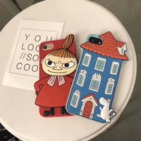 ZMASI 3D Moomin House Case for iPhone
