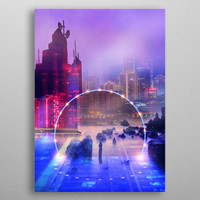 2077 cityscape by Viviana Gonzalez | Displate
