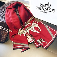 Inseva Hermes fashion new lady embroidered design shawl scarf