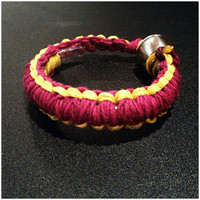 Pipe Bracelet - Maroon and Gold