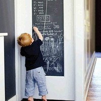 ONETOW 45x200cm Chalk Board Blackboard Stickers Removable Vinyl Draw Decor Mural Decals Art Chalkboard Wall Sticker For Kids Rooms