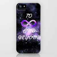 Infinity and beyond! iPhone Case by Kian Krashesky