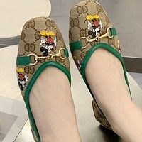 New style buckle Baotou canvas flat bottom lazy outdoor shoes
