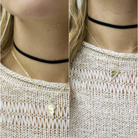 Keep You Close Black and Gold BEST FRIENDS Choker Necklace