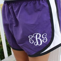 Monogrammed Running Shorts YOUTH and ADULT