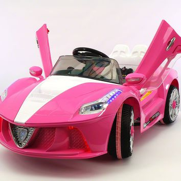Spider GT Kids Ride-On Toy Car with Parental Remote | Pink Pearl