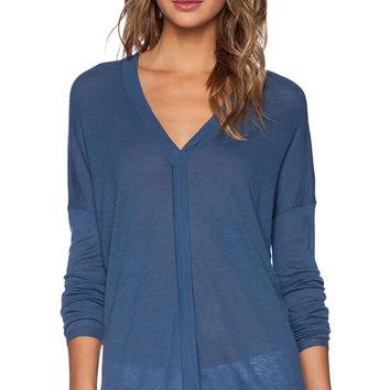 Vince Double V Sweater in Blue
