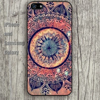 Mandala pattern Old pattern colorful iphone 6 6 plus iPhone 5 5S 5C case Samsung S3,S4,S5 case Ipod Silicone plastic Phone cover Waterproof