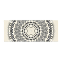 "Famenxt ""Black & White Boho Mandala"" Geometric Bed Runner"
