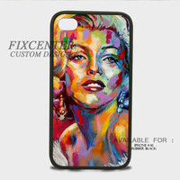 Marlyn Monroe Color Rubber Cases for iPhone 4,4S, iPhone 5,5S, iPhone 5C, iPhone 6, iPhone 6 Plus, Samsung Galaxy S3, Samsung Galaxy S4, Samsung Galaxy S5  phone case design
