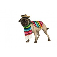 Mexican Serape Dog Pet Costume