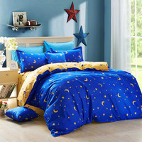 Home textiles,luxury solid color,point,moon and stars 3/4pcs bedding sets bed linen include duvet cover bed sheet pillowcase