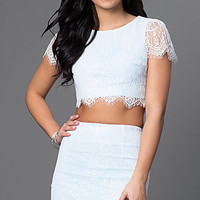 Two Piece Lace Party Dress