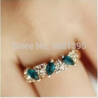 Hot Sales fashion Vintage created gemstone Crystal ring for Women Jewelry--CRYSTAL SHOP Free shipping