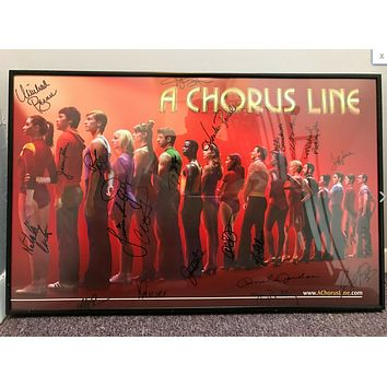 "2006 ""A Chorus Line"" Broadway Musical Poster - Autographed by Full Cast"
