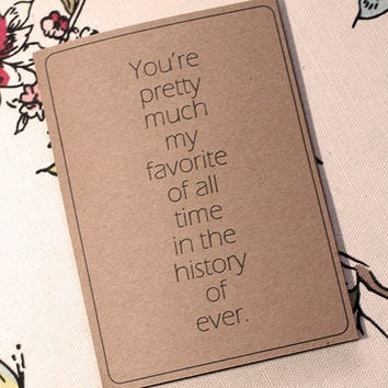 Love Note Card Favorite Of All Time