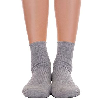 Solid Ankle Socks - Gray