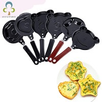Cute Egg Pancake Frying Pan Omelette Breakfast Saucepan Non-Stick Egg Mould Egg Tools Molds Cookware Kitchen Accessories WYQ