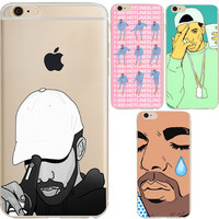 Hotline bling Crying Drake  scratch-proof case cover for iPhone 6 6S 5S 6Plus