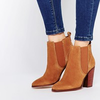 River Island Suede Western Boot at asos.com