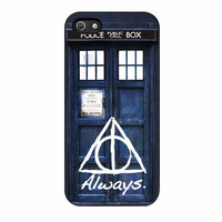 tardis police box deathly hallows harry potter cases for iphone se 5 5s 5c 4 4s 6 6s plus