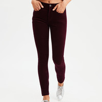 High-Waisted Corduroy Jegging, Wine
