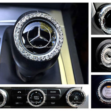 Car accessory, Bling Car Stickers, Rhinestone Auto Accessories, Crystal Car Gift For Women, Bling Rings For Buttons & More, Bling Car Decor