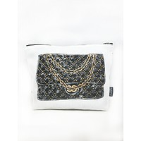 Quilted Handbag T Bottom Cosmetic Bag