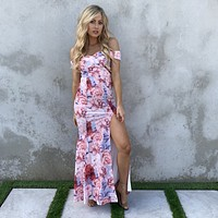 For Love & Floral Print Maxi Dress