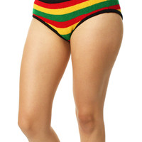 Knitty Kitty Women's Rasta Knitted Panties Underwear