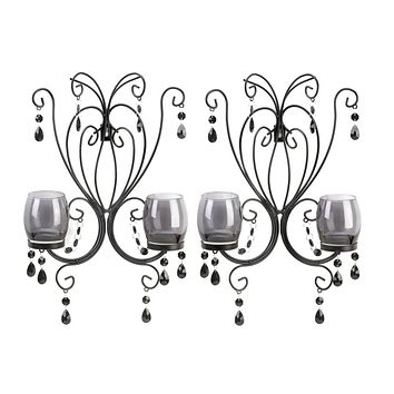 Midnight Elegance Candle Wall Sconce