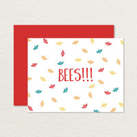 Bees A2 Printable Note Card / Printable Stationery / Funny Note Card / Printable Birthday Card