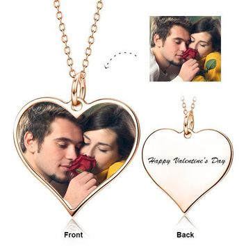"""I Must Have You - 925 Sterling Silver Color Photo&Text Necklace Adjustable 16""""-20"""""""